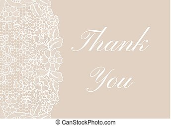 Thank you lace card