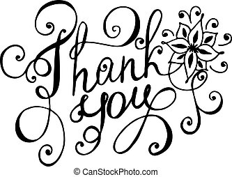 Thank you being you clipart vector and illustration 36 thank you thank you lettering floral hand drawn vector illustration voltagebd Gallery