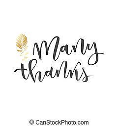 Thank you lettering greeting