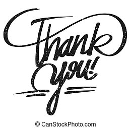 Thank you lettering Pencil Typo, Hand drawn Vector...