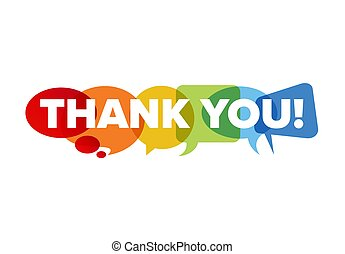 Thank you lettering template made from speech bubble