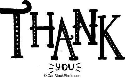 Thank You lettering. Vector illustration.