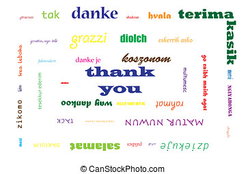 Thank you, multilingual - Thank you written in colorful...