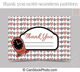 Thank you Note - Clocks from Wonderland.