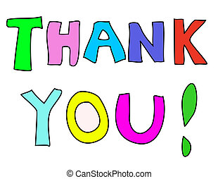 Thank You Note - Colorful Thank You note
