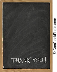 thank you on blank blackboard