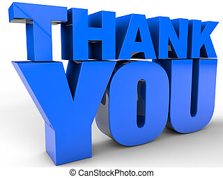 Thank You - over white Background