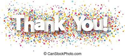 Thank you paper banner. - Thank you paper banner with color...