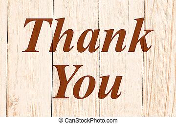 Thank You retro message on weathered whitewash wood