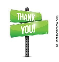 thank you road sign illustration