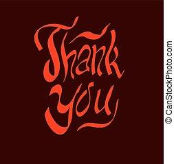thank you script hand