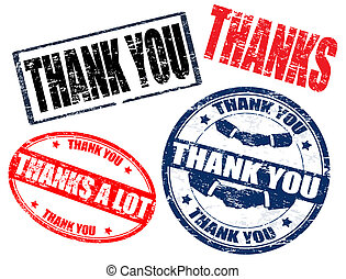 Set of thank you stamps