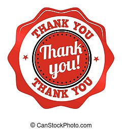 Thank you sticker or stamp