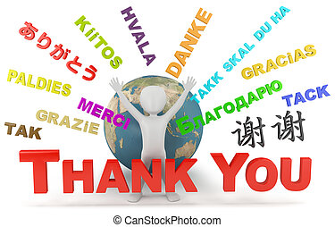 Thank you. 3d image. On a white background.