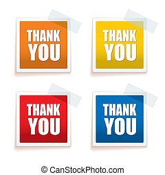 Thank you tag colour