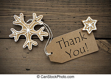 Thank You Tag with Christmas Decoration