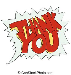 An image of thank you text.