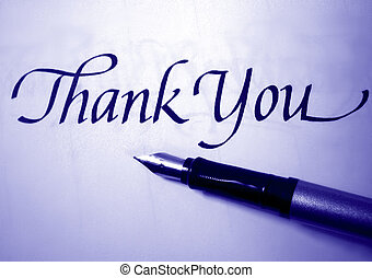 thank you - thank you in calligraphy