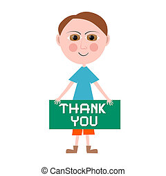 Thank You Vector Man Illustration