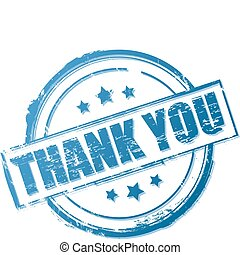 Thank you stamp isolated on white. Vector illustration