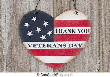 Veterans Day message - Thank You Veterans Day message on a...