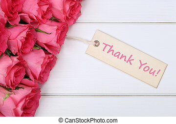 Thank You with roses flowers on mother's or Valentine's Day