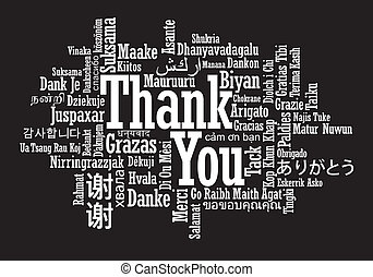 thank you word cloud vector illustration