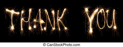 Thank you written sparkler