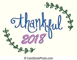 Thankful 2018 New Year