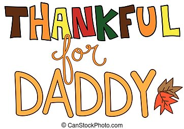 Thankful For Daddy