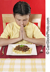 Now I fold my hands and say, Thank you God for my supper today