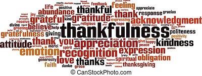 Thankfulness word cloud