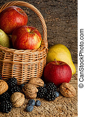 Thankgiving basket with autumn berries