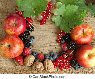 Thankgiving board with autumn berries