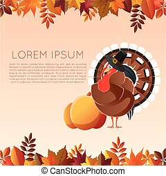 Thankgiving day banner4 - Vector image of the Thankgiving...