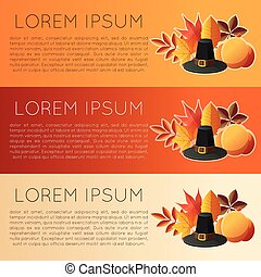 Thankgiving day banner6 - Vector image of the Thankgiving...