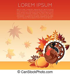 Thankgiving day banner7 - Vector image of the Thankgiving...
