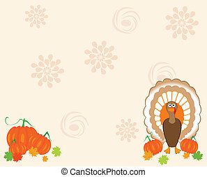 thankgiving - vector card for thanksgiving day