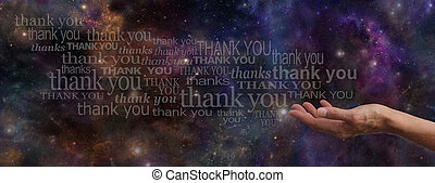 Thanking the Universe Web Banner