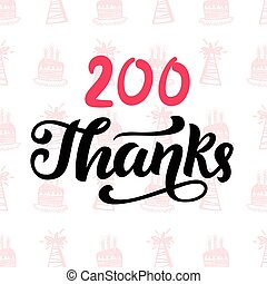 Thanks 200 followers. Vector design template for social...