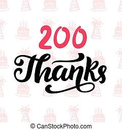Thanks 200 followers. Vector design template for social...