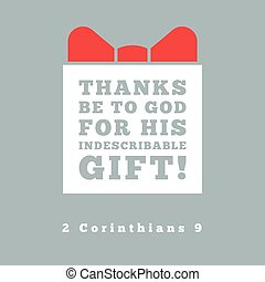 thanks be to god for his indescribable gift from 2...
