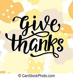 thanks., cartel, elasticidad, acción de gracias, día