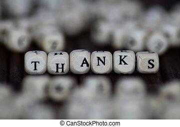thanks exclamation - isolated text