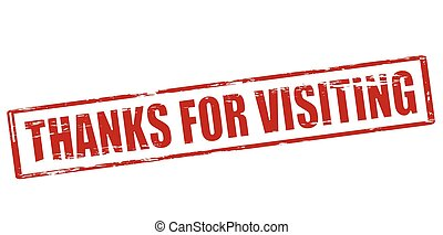 Thanks for visiting - Rubber stamp with text thanks for...