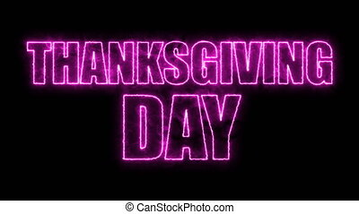 Thanks giving day text, 3d rendering backdrop, computer...