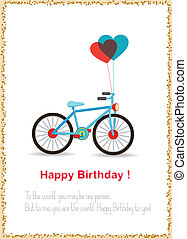 Thank's giving with bicycle