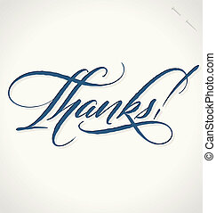 THANKS hand lettering vector - THANKS hand lettering -- ...