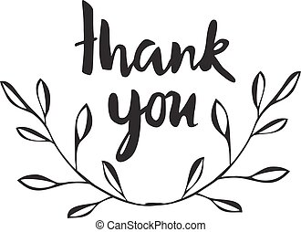 thanks with olive - vector thank you card with olive