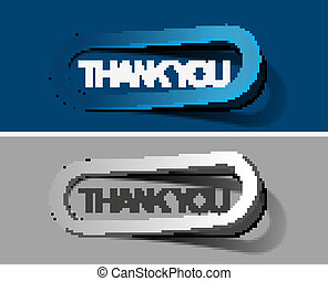 thanks you sticker design vector